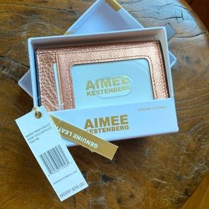 NWT Aimee Kestenberg Rose Gold Metallic wallet